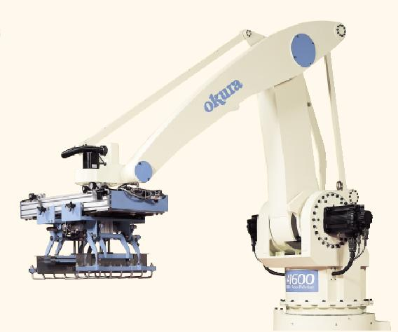 Robotic Palletizing Arms : Pdc columbia okura a robotic arm palletizing